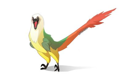 Prehistoric Poof by macawnivore