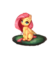 Fluttershy (new look) sorta by Miokomata