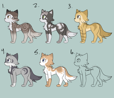 Adoptables #2 (5/6 OPEN) by xCinderfrostx