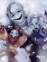 First time in Snowdin with my little boys by paurachan
