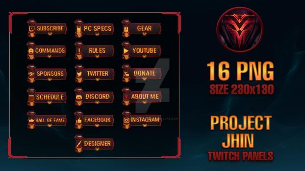 PROJECT Jhin - Twitch Panels by lol0verlay