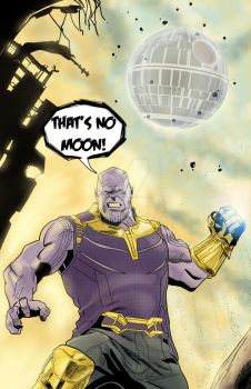 Thanos About to Drop the Death Star by MentalPablum