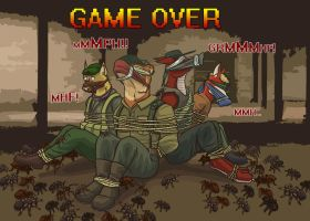 Game over by fuzzy eightlegged critters of DOOM by SteinWill