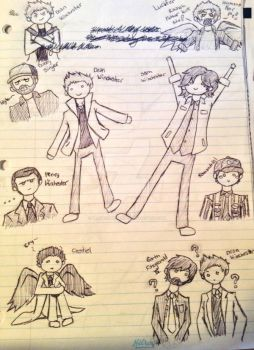 Supernatural Comic Doodles by blackcatdnangel
