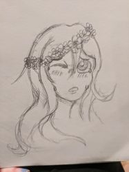 flower crown by AbyssinalPhantom