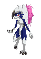 Machi into Shiny Lycanroc 03 by midorimushiG