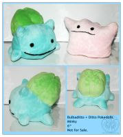 Plush - Bulbaditto + Ditto by RadiantGlyph