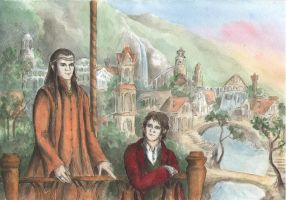 Elrond and Bilbo in Rivendell by AnotherStranger-Me