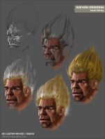 Saiyan Assasin Head Study by delestreway