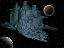 Nostromo in space by paultag