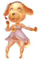 [N-Pop Collab] Goldie~ [Animal Crossing] by e-r-p-e-r