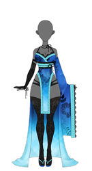 OUTFIT: Kimono 4 (AUCTION: Closed) by Kyunn-Adoptable