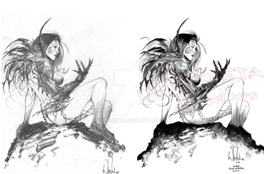 Witchblade Fan Art by Whilce Portacio_Pencils Inks by debuhista