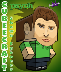 Cubeecraft of Shawn Spencer from Psych 3D by SKGaleana