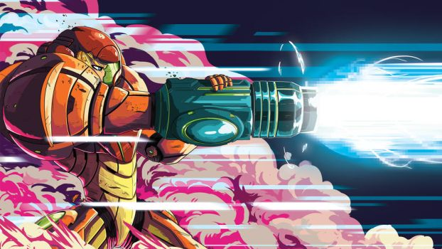 Samus Shoot - Wallpaper by FeloniusMonk