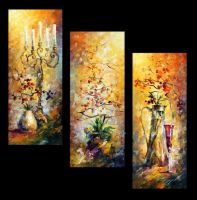Oriental Dreams Set of 3 by Leonid Afremov by Leonidafremov