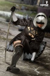 Sexy 2B NIER Automata rule by cosplayerotica