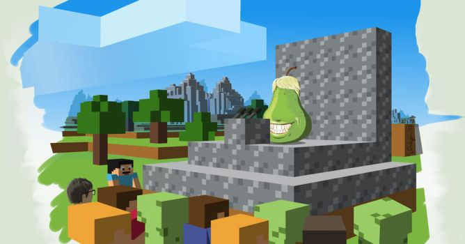 The Biting Pear of Mincraft Press Conference by Alonus