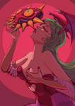 Morrigan and the Majora's Mask by Dylean