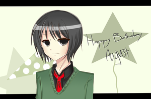 HAPPY BIRTHDAY AUGUST by Usu-mi