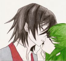 C.C and Lelouch by SomebodysWish