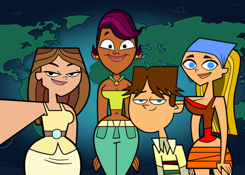 Total Drama - Taylor's Selfie with Her New Friends by Terrance-Hearts-Art