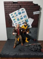 Action figure diorama - Days of Future Past by WemblyFraggle