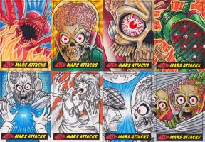 Mars Attacks Sketch Cards 1 by C-McCown