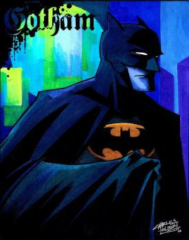 marker: Caped Crusader by KidNotorious