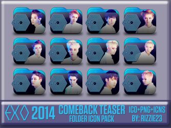 EXO 2014 Comeback Teaser Folder Icon Pack by Rizzie23