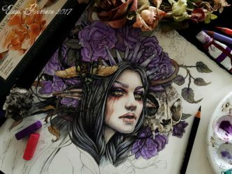 My Wild Feelings Coloring Process 2 by EnysGuerrero