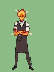Grillby by The-twitching-candle
