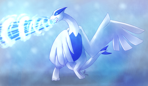 AT : Lugia used Hydro Pump ! by Pandoraz-Kyle