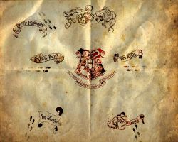 marauders map by Human-born-on-mars