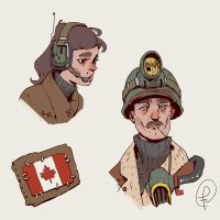random characters from canada wasteland by Fernand0FC