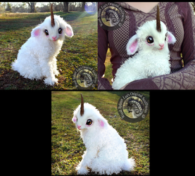 -SOLD- Hand Made Poseable Fantasy Baby Unicorn! by Wood-Splitter-Lee