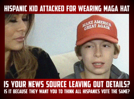 Hispanic Kid Attacked For Supporting Trump by CaciqueCaribe