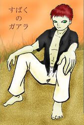 Gaara Line Work: Colored by Chikako