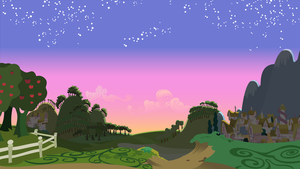 Dawn Scene - Full Frame Vector by Ironfruit