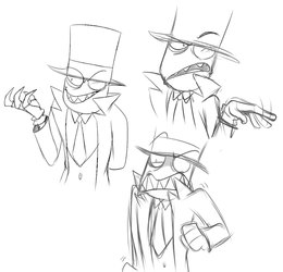 Black Hat Doodles by Anipul