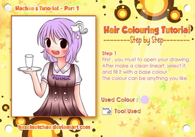 Simple Anime Hair Colouring Tutorial by Hazelnutchan