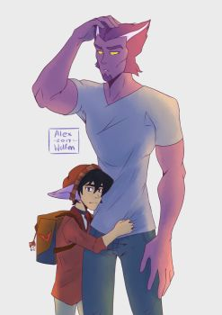 Thace And younger galra Keith by AlexWolfen