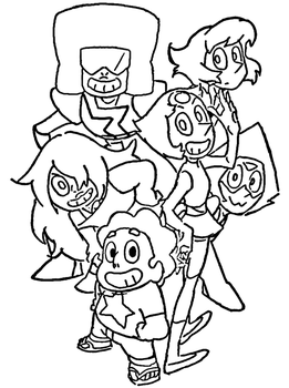 100 Steven Universe Coloring Pages Linearts For Coloring By