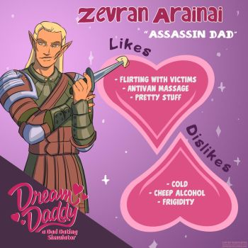 Dream Age: Zevran Arainai by Gauntletto