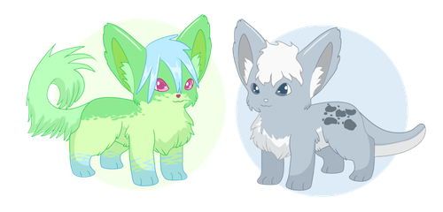 Green and Grey adoptables [Open!] by poke-mattix