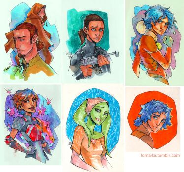 SWR copic sketches by lorna-ka
