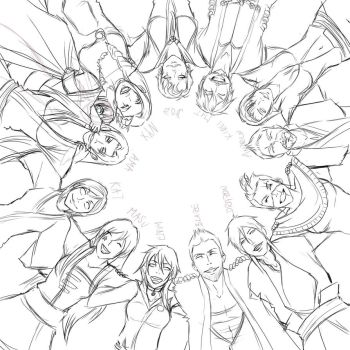 Sketch for group pic by Amadalia