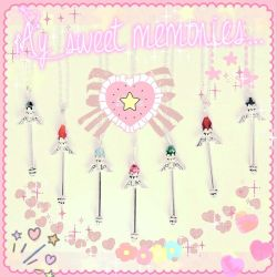 Magical Girls Wands Filtered and Stickered by ZTKuko