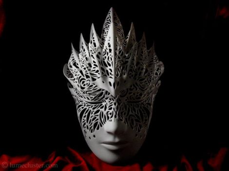 Dreamer Mask: Flourish (3D printed) by Lumecluster