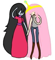 Princess Bubblegum and Marceline: Outfit Swap 2 by Queen-Of-Cute